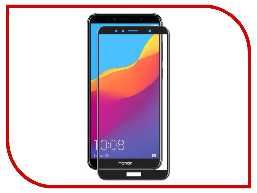 Аксессуар Закаленное стекло для Huawei Honor 7A Pro / Y6 2018 DF Full Screen hwColor-53 Black black new 7 85 inch regulus 2 itwgn785 tablet touch screen panel digitizer glass sensor replacement free shipping