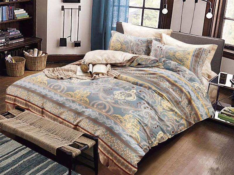 Постельное белье Cleo 20/339-SK Комплект 2 спальный Сатин Печатный cleo комплект постельного белья cleo полуторный сатин печатный 4пр 15 112 sp