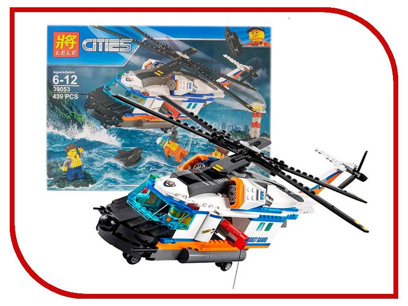 Конструктор Lele Cities Сверхмощный спасательный вертолет 439 дет. 39053 конструктор lele my world на рыбалке 375 дет 33095