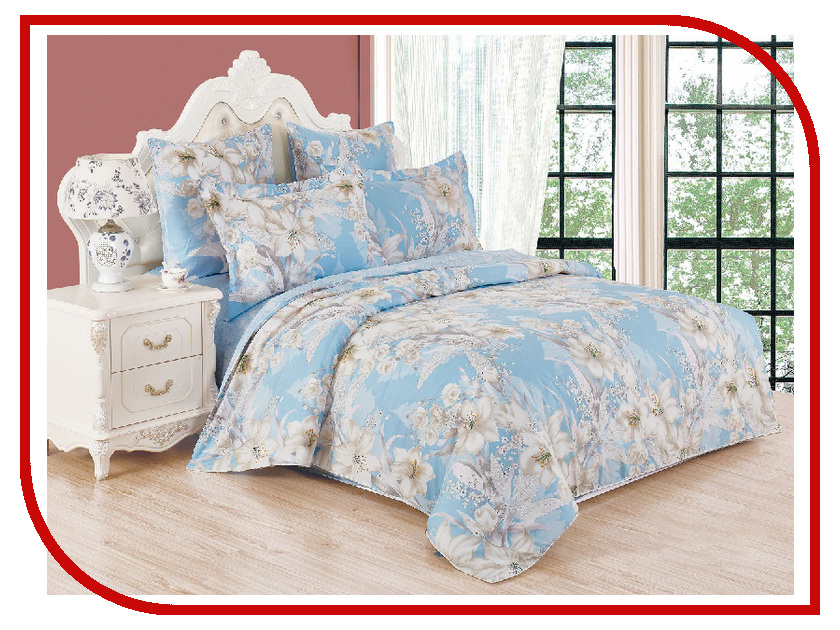 Постельное белье Cleo Satin lux Айвори 20/192-SL Комплект 2 спальный Сатин цена