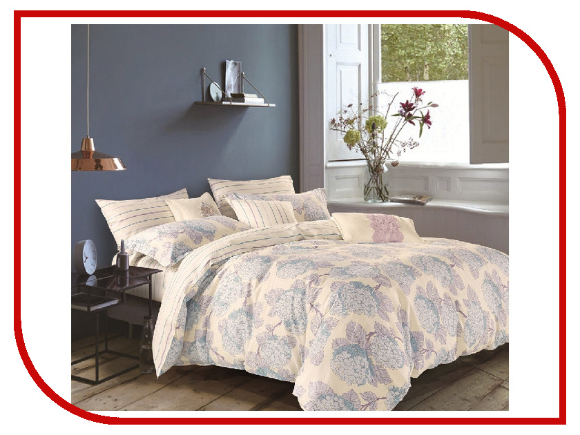 Постельное белье Cleo 15/041-SR Комплект 1.5 спальный Сатин постельное белье cleo 20 043 sr комплект 2 спальный сатин