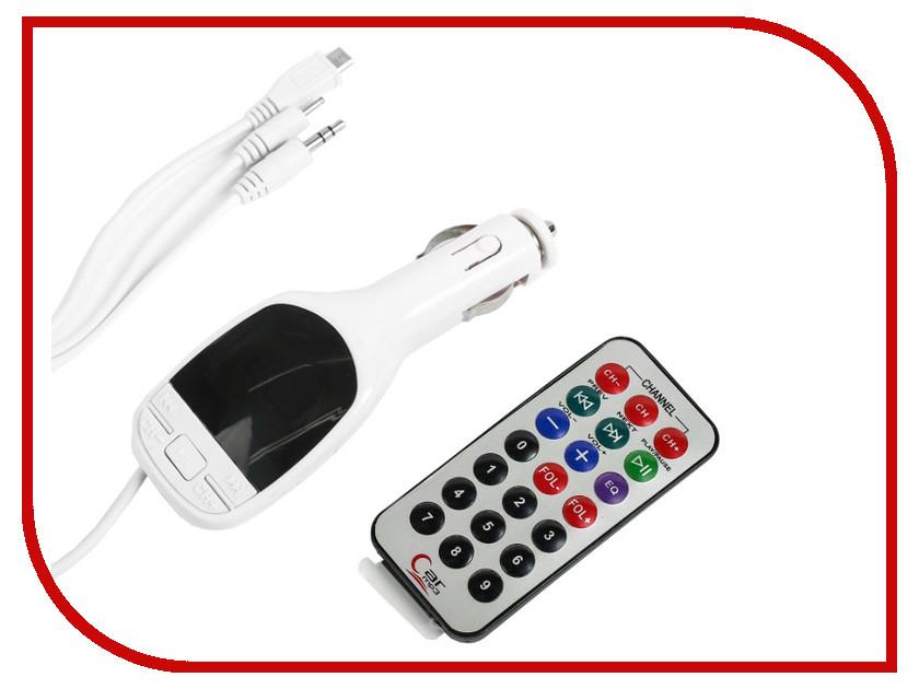 FM-Трансмиттер СИМА-ЛЕНД USB/Mp3/WMA/MicroSD White 2506786