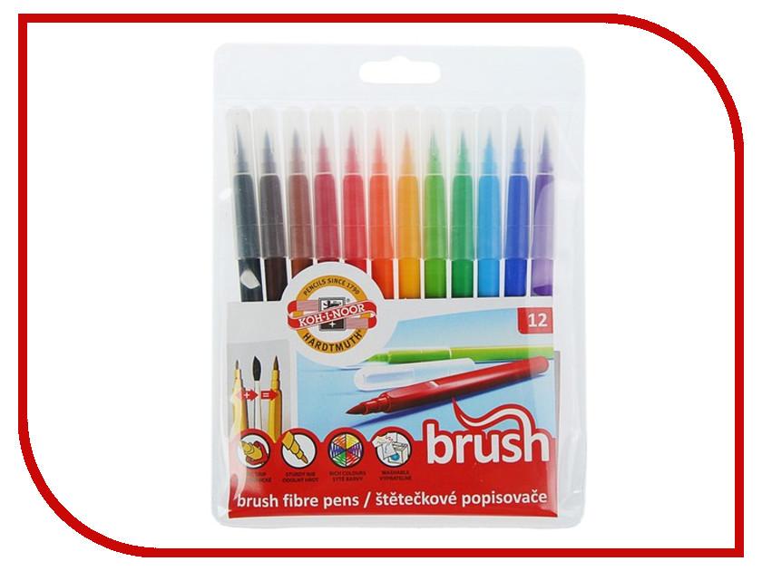 Фломастеры Koh-i-Noor 12 цветов 771009AB01TE фломастеры crayola 12 цветов 58 8329