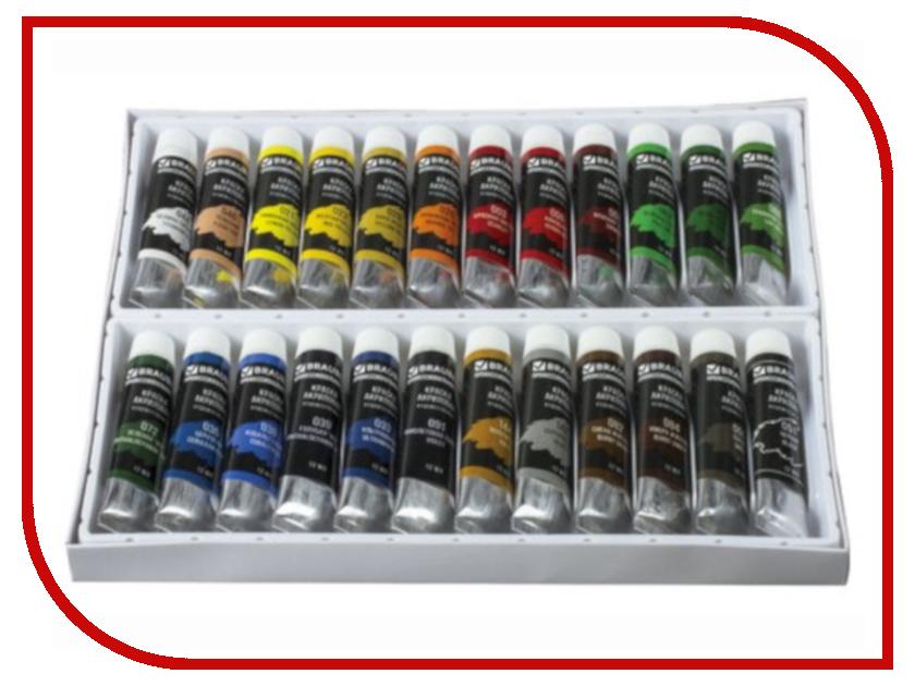 Краски акриловые художественные Brauberg 24 цвета 191124