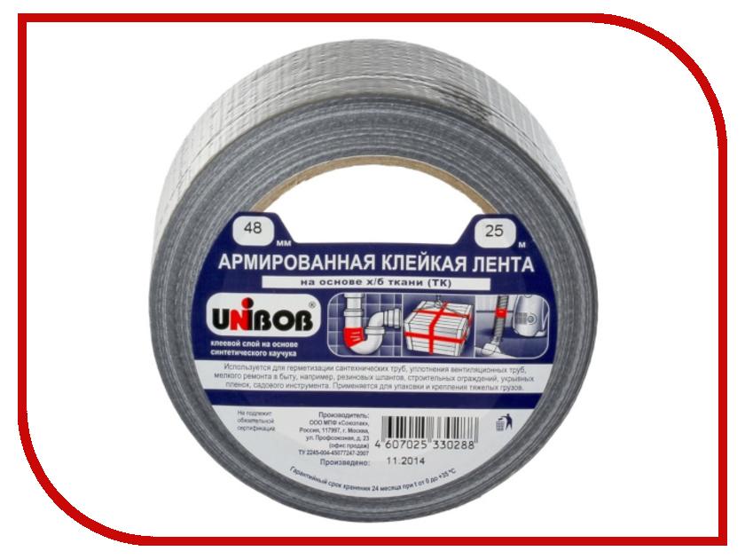 цена Клейкая лента армированная Unibob 48mm x 25m 29836