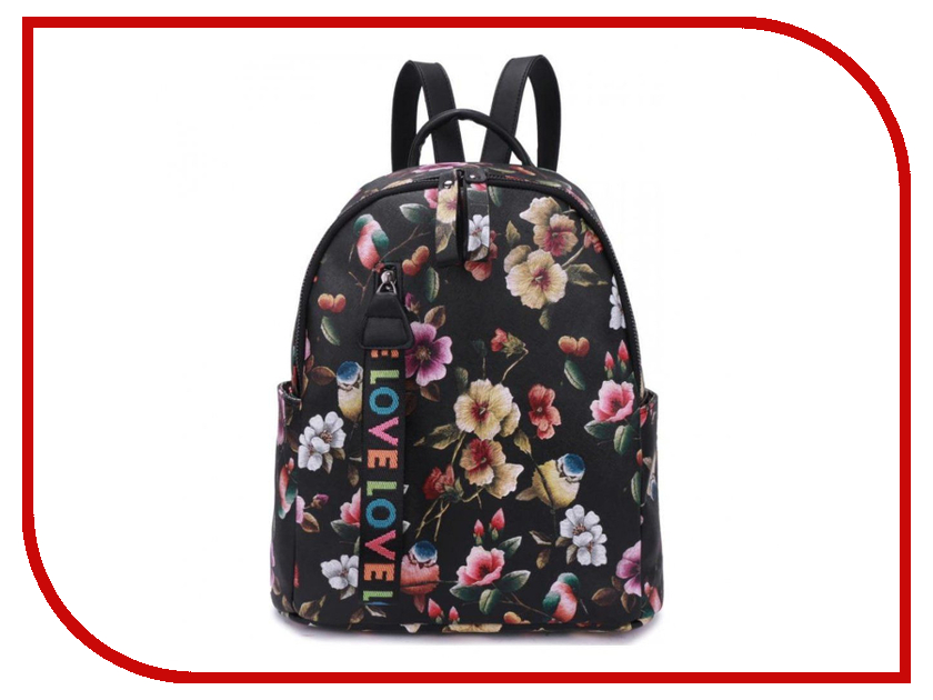 Рюкзак OrsOro DS-877/4 Black-Flowers