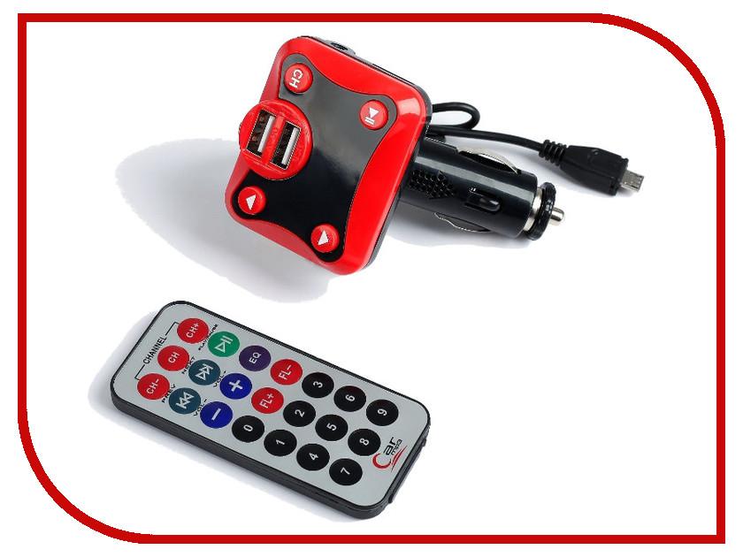 FM-Трансмиттер СИМА-ЛЕНД 2 USB/Mp3/WMA/AUX/MicroSD Red 2506795