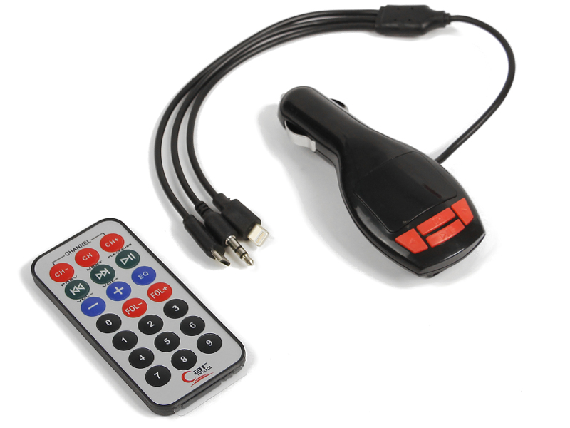 FM-Трансмиттер СИМА-ЛЕНД USB/Mp3/WMA/MicroSD Black 2506796 цена