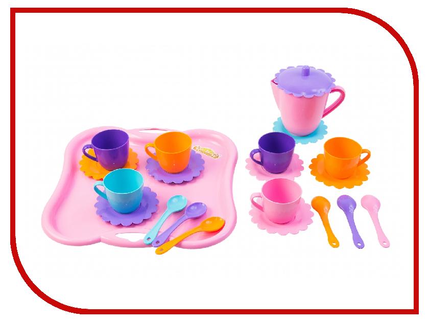 Набор посуды Тигрес Ромашка на 6 персон с подносом и чайником 39086 to4rooms набор емкостей с подносом finimo