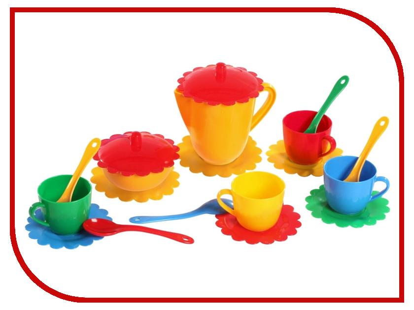 Игра Тигрес Набор посуды Ромашка на 4 персоны Большой 39091 кукольные домики и мебель tigres набор посуды ромашка на 4 персоны большой