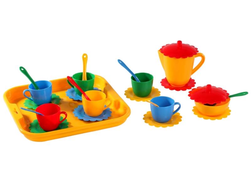 Набор посуды Тигрес Ромашка на 6 персон с подносом Большой 39093 игра тигрес набор посуды ромашка на 4 персоны 39081