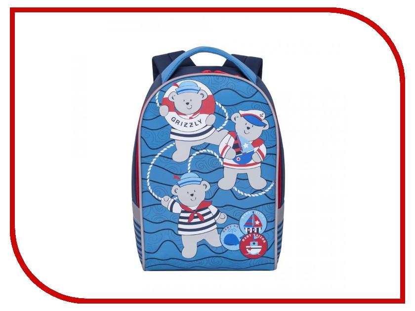 Рюкзак Grizzly RS-892-1/1 Blue-Red grizzly рюкзак дошкольный цвет серый rs 764 5
