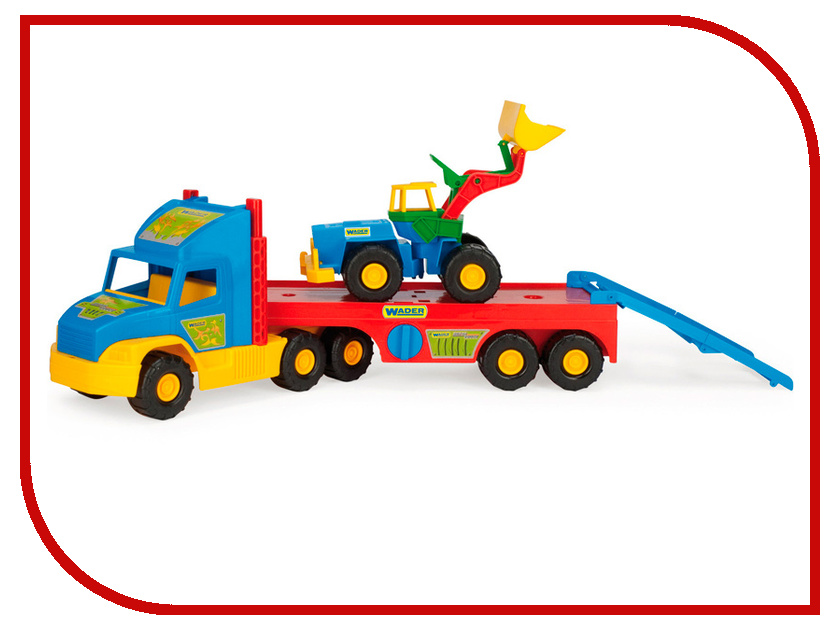 Игрушка Wader Super Truck с Трактором 36520 машины wader автомобиль констрак полиция
