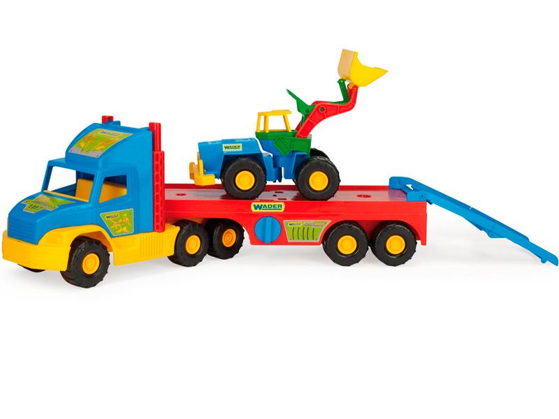 Фото - Игрушка Wader Super Truck с Трактором 36520 бетономешалка wader super truck разноцветный 58 5 см 36590