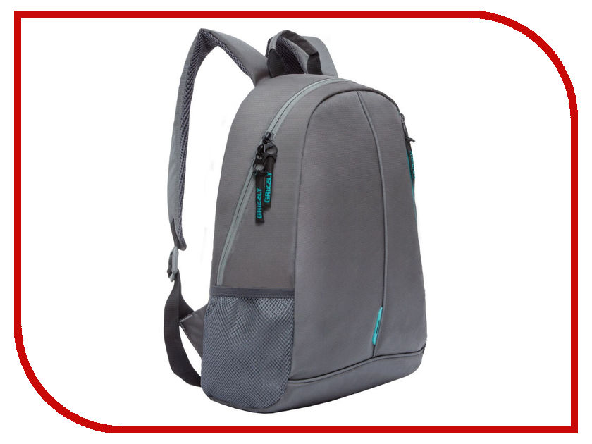 Рюкзак Grizzly RL-852-1/3 Grey-Turquoise