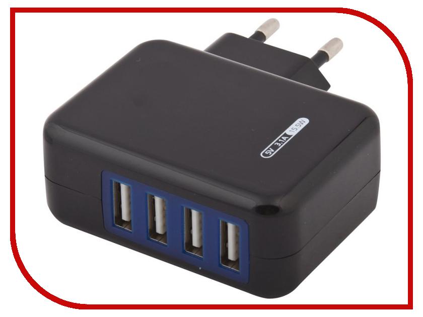 Зарядное устройство Liberty Project 4xUSB 3.1А 0L-00000646 Black автомобильное зарядное устройство liberty project cd125532 black