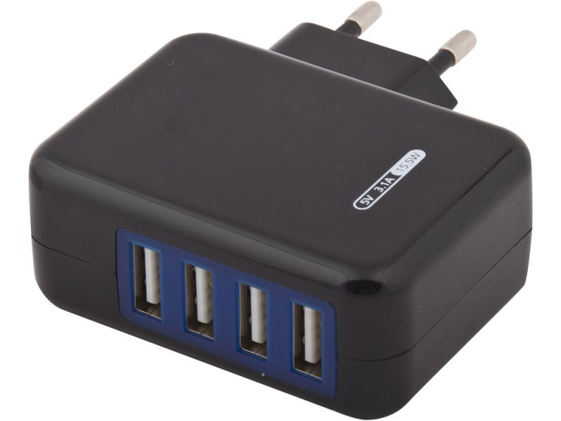 Зарядное устройство Liberty Project 4xUSB 3.1А 0L-00000646 Black стоимость