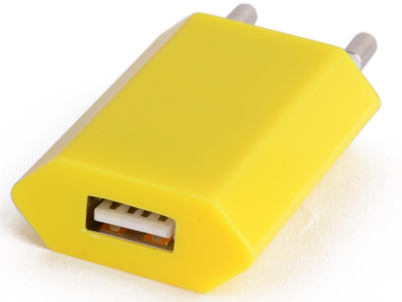 Зарядное устройство Liberty Project USB 1А SM000123 Yellow