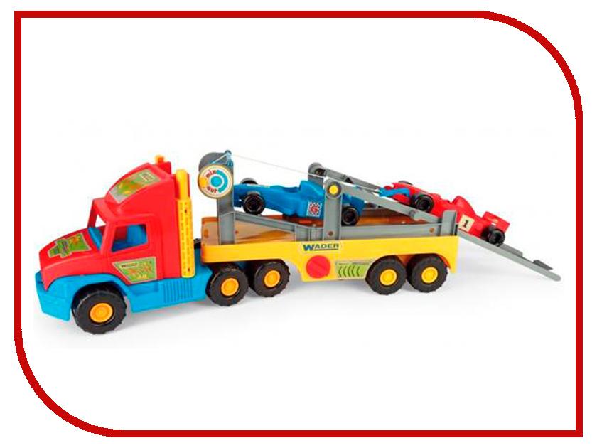 Игрушка Wader Super Truck с авто Формулой 36620 машины wader автомобиль констрак полиция