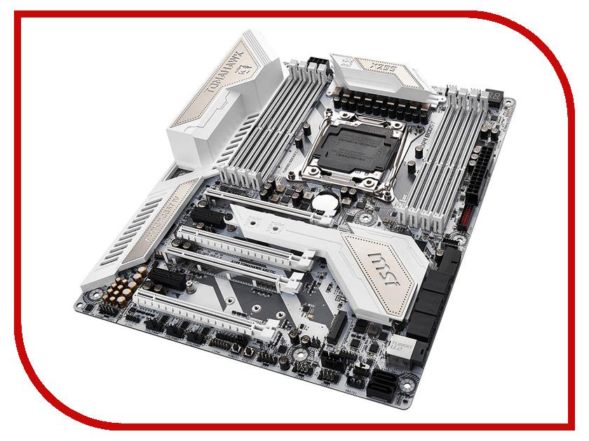 Материнская плата MSI X299 TOMAHAWK ARCTIC msi original zh77a g43 motherboard ddr3 lga 1155 for i3 i5 i7 cpu 32gb usb3 0 sata3 h77 motherboard