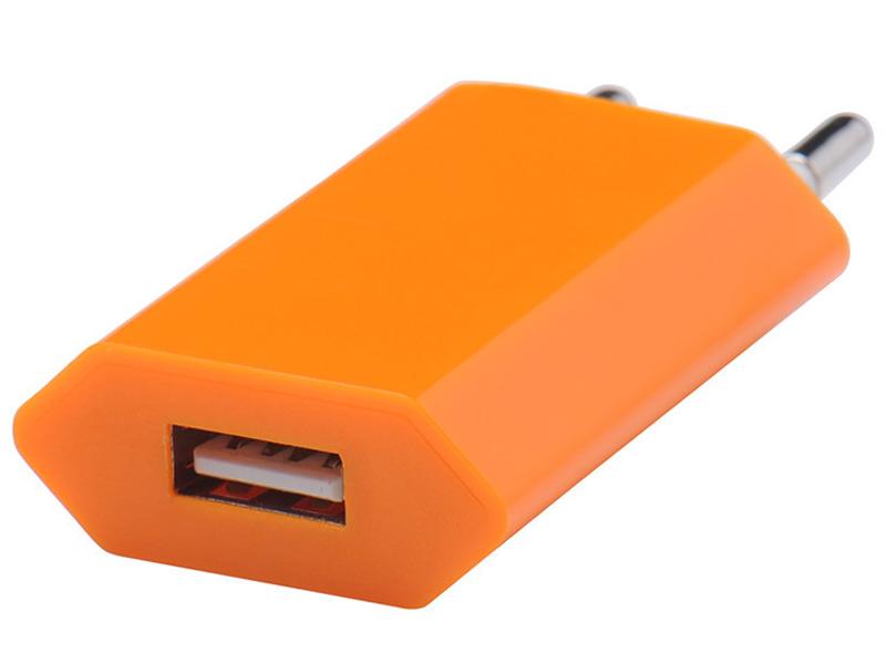 Зарядное устройство Liberty Project USB 1А SM000122 Orange
