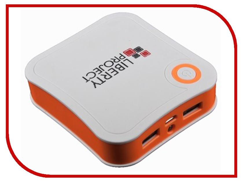 Аккумулятор Liberty Project R0007768 7800mAh White-Orange liberty project аккумулятор liberty project li ion 2500 мач голубой портативный