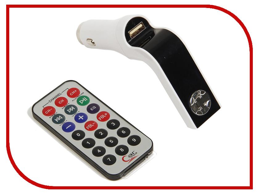 FM-Трансмиттер СИМА-ЛЕНД USB/Mp3/WMA/MicroSD White 2506799