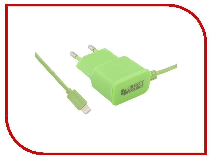 Зарядное устройство Liberty Project 1А Apple 8 pin Green 0L-00000687 зарядное устройство liberty project 3xusb 3 1а 0l 00000676 white