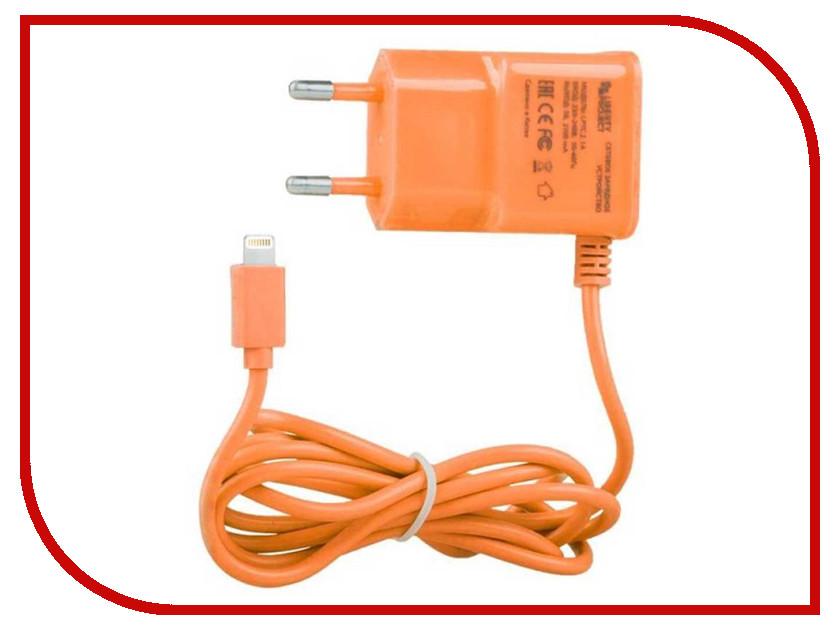 Зарядное устройство Liberty Project 1А Apple 8 pin Orange 0L-00000690 зарядное устройство liberty project 4xusb 3 1а 0l 00000646 black