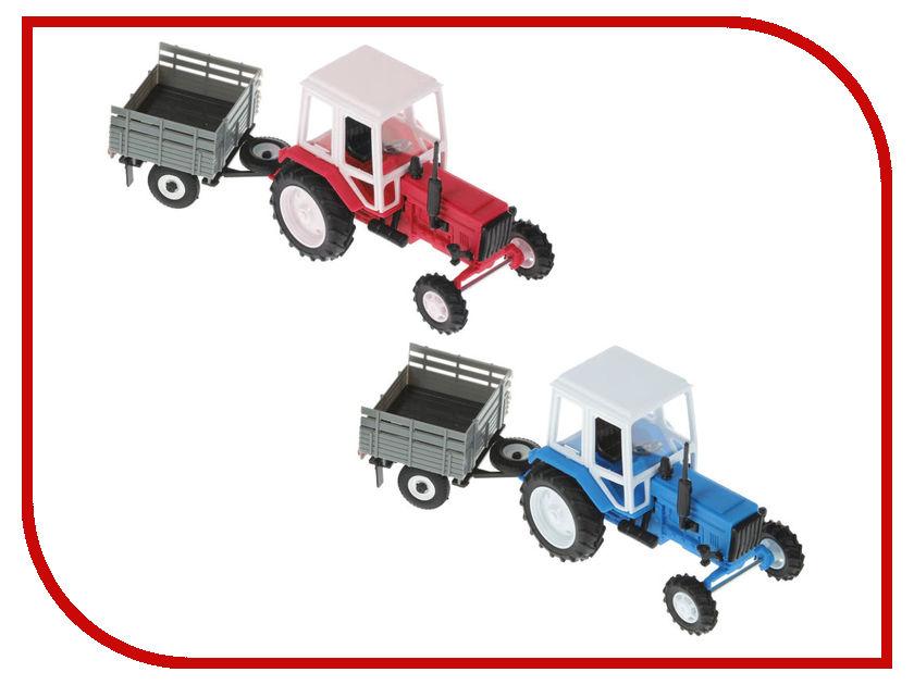 Игрушка Мир отечественных моделей Трактор МТЗ-82 с прицепом 24/24 1:43 412
