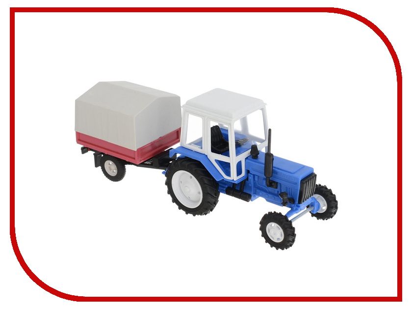 Игрушка Мир отечественных моделей Трактор МТЗ-82 с прицепом тент 24/24 1:43 500 карбюратор беларусь мтз 05
