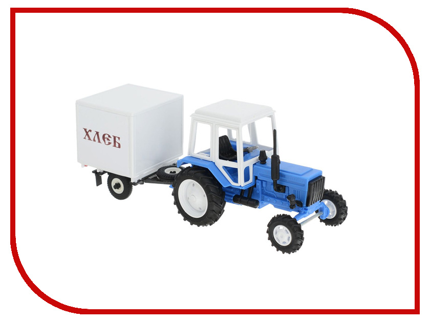 Игрушка Мир отечественных моделей Трактор МТЗ-82 с прицепом Хлеб 1:43 503 карбюратор беларусь мтз 05