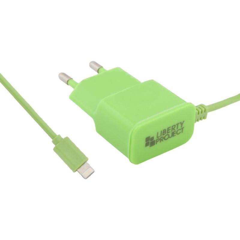 Зарядное устройство Liberty Project 2.1А Apple 8 pin Green 0L-00037480