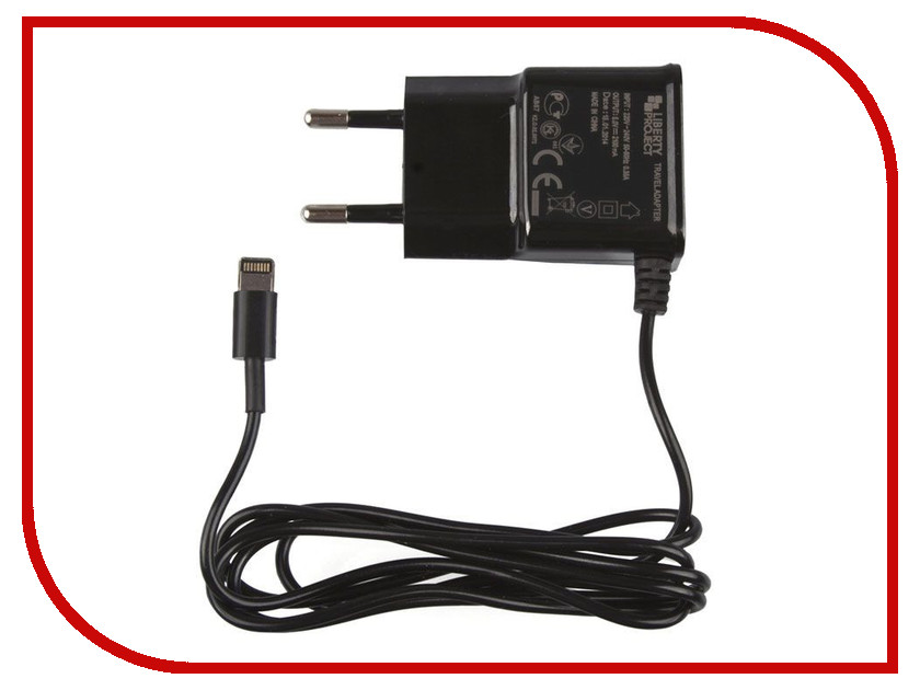 Зарядное устройство Liberty Project 2.1А Apple 8 pin Black 0L-00030223 зарядное устройство liberty project 4xusb 3 1а 0l 00000646 black