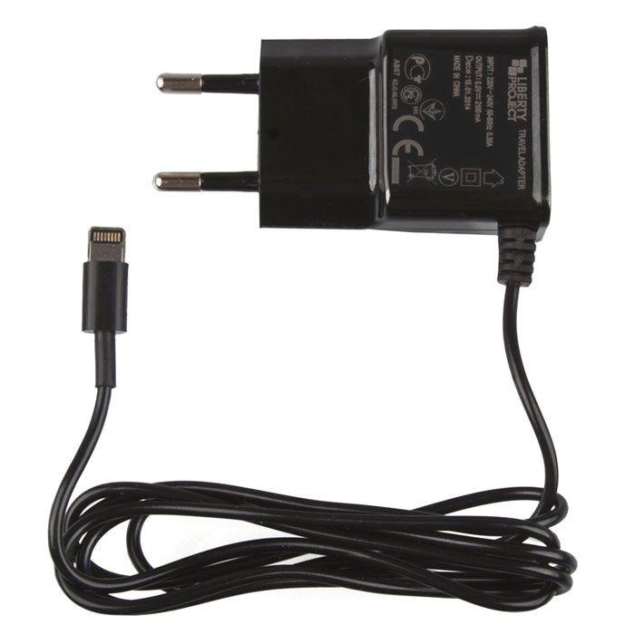 Зарядное устройство Liberty Project 2.1А Apple 8 pin Black 0L-00030223