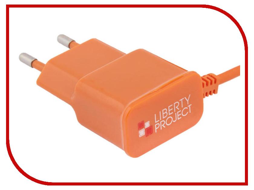 Зарядное устройство Liberty Project MicroUSB 2.1A Orange 0L-00000685 зарядное устройство liberty project 3xusb 3 1а 0l 00000676 white
