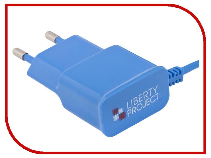 Зарядное устройство Liberty Project MicroUSB 2.1A Blue 0L-00000683 зарядное устройство liberty project 3xusb 3 1а 0l 00000676 white