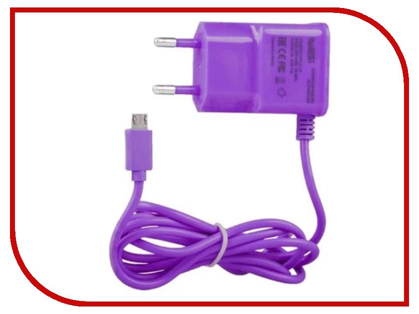 Зарядное устройство Liberty Project MicroUSB 2.1A Purple 0L-00000686 зарядное устройство liberty project microusb 2 1a blue 0l 00000683
