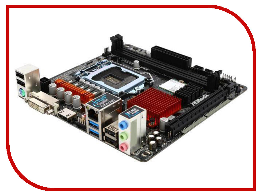 Материнская плата ASRock H110M-ITX материнская плата пк asrock h110m hdv r3 0 h110m hdv r3 0