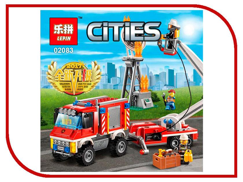 Конструктор Lepin Cities Пожарный вспомогательный грузовик 412 дет. 02083 конструктор lepin technician экскаватор 760 дет 20025