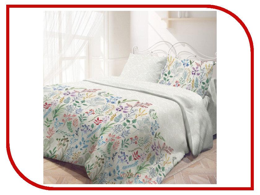 Постельное белье Самойловский текстиль Гербарий Комплект 2 спальный Бязь 721087 постельное белье эго комплект 1 5 спальный полисатин