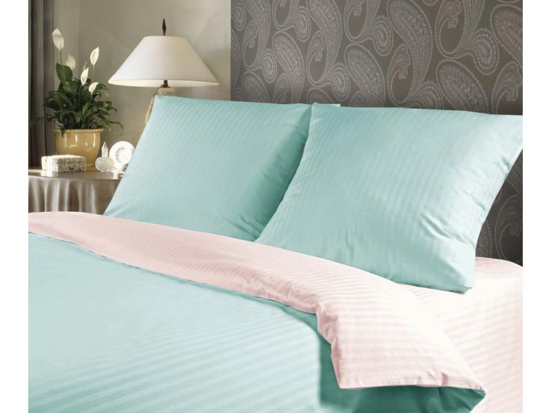Постельное белье Verossa Комплект 2 спальный Страйп Sunset 711217 постельное белье verossa комплект 2 спальный сатин страйп blue sky 711213