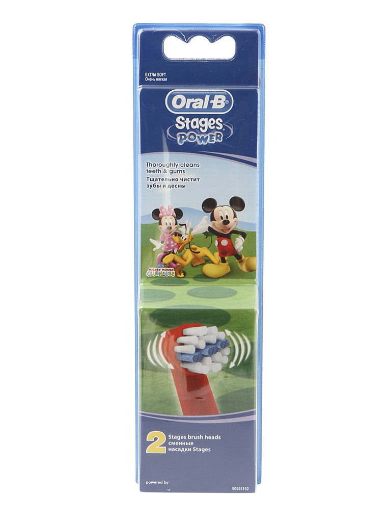 Сменные насадки Braun Oral-B Stages Power EB10K / EB10-2 Kids Disney Микки Маус