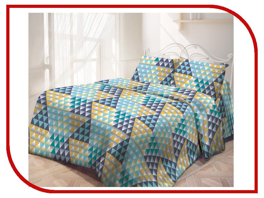 Постельное белье Самойловский текстиль Цветные зеркала Комплект Евро Бязь 713581