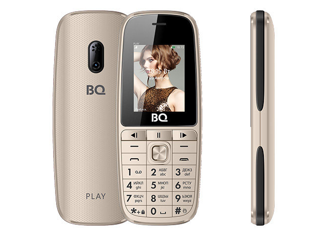 Сотовый телефон BQ BQ-1841 Play Gold цена и фото