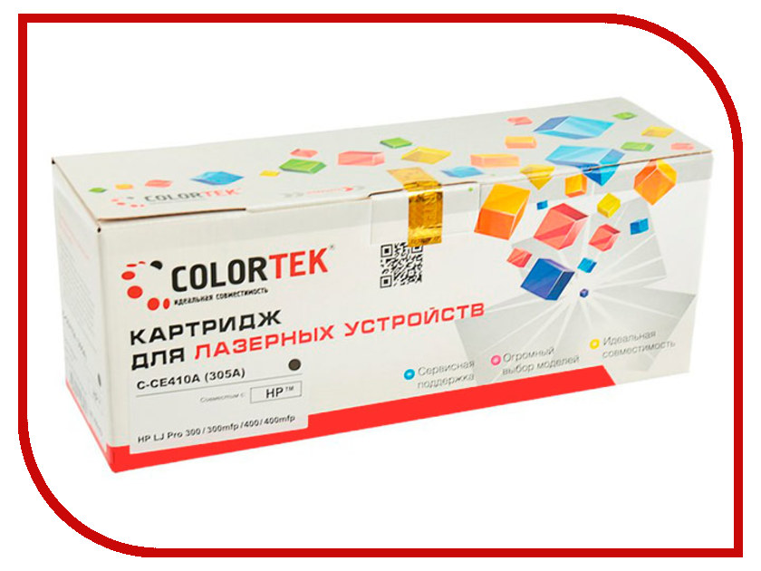 Картридж Colortek CE410A (305A) Black для HP LJ Pro 300 M351a/M375nw/400 M475dw/400 M451nw картридж colortek black для ml 3750