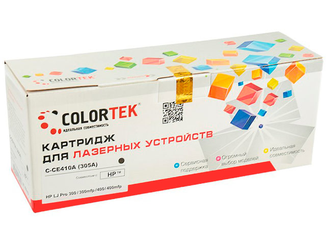 Картридж Colortek CE410A (305A) Black для HP LJ Pro 300 M351a/M375nw/400 M475dw/400 M451nw цена