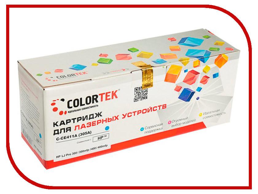 Картридж Colortek CE411A (305A) Cyan для HP LJ Pro 300 M351a/M375nw/400 M475dw/400 M451nw картридж colortek black для 14854 14855 14856 14857 14858 14860 14861