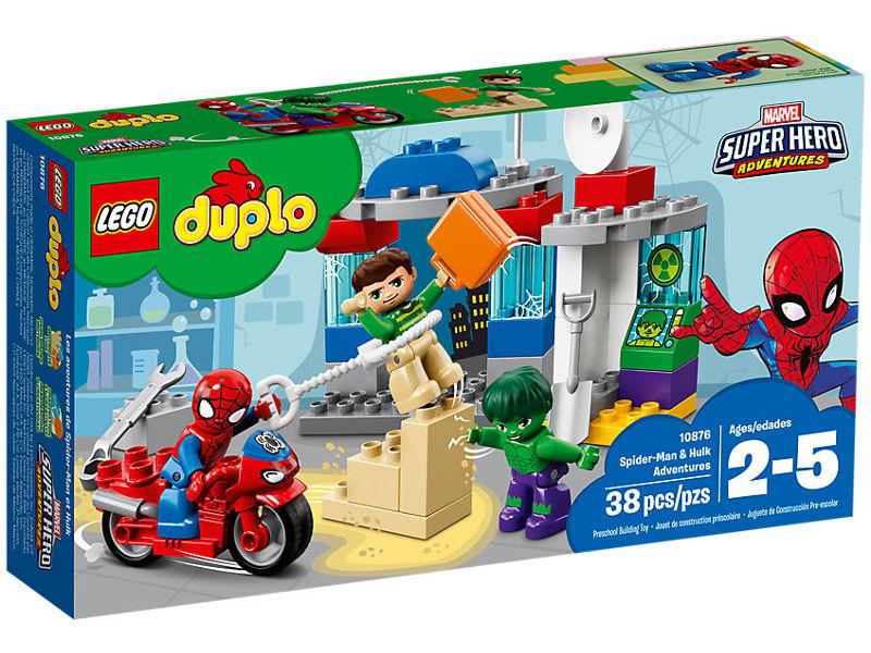 Конструктор Lego Duplo Приключения Халка и Человека-паука 10876 конструктор lego решающий бой человека паука против скорпиона 125 элементов 10754