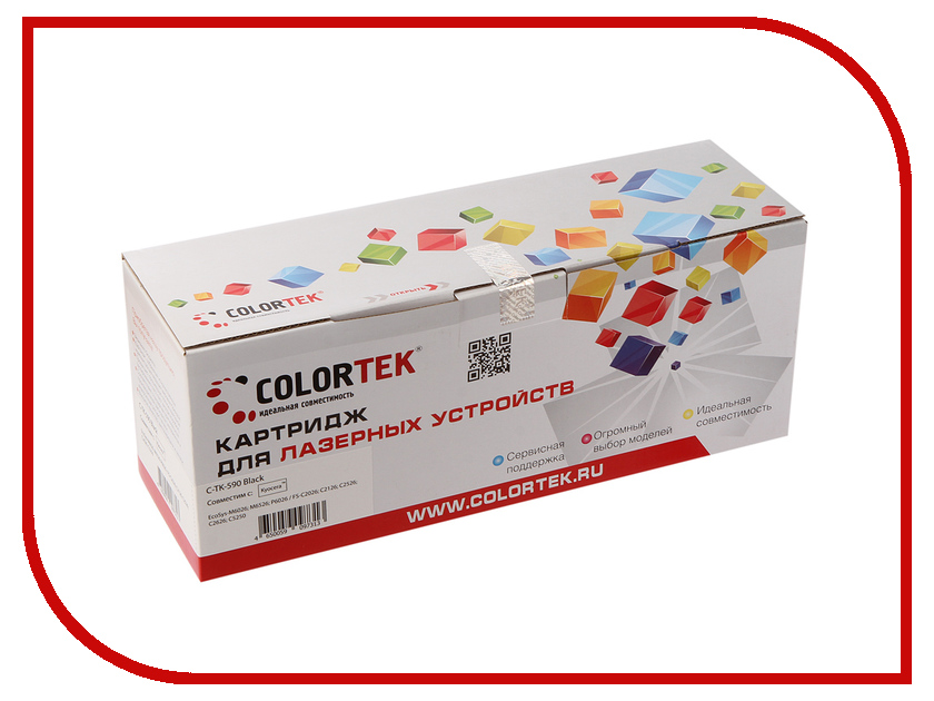 Картридж Colortek TK-590k Black для Kyocera FS-C2026/2126MFP картридж colortek black для ml 3750
